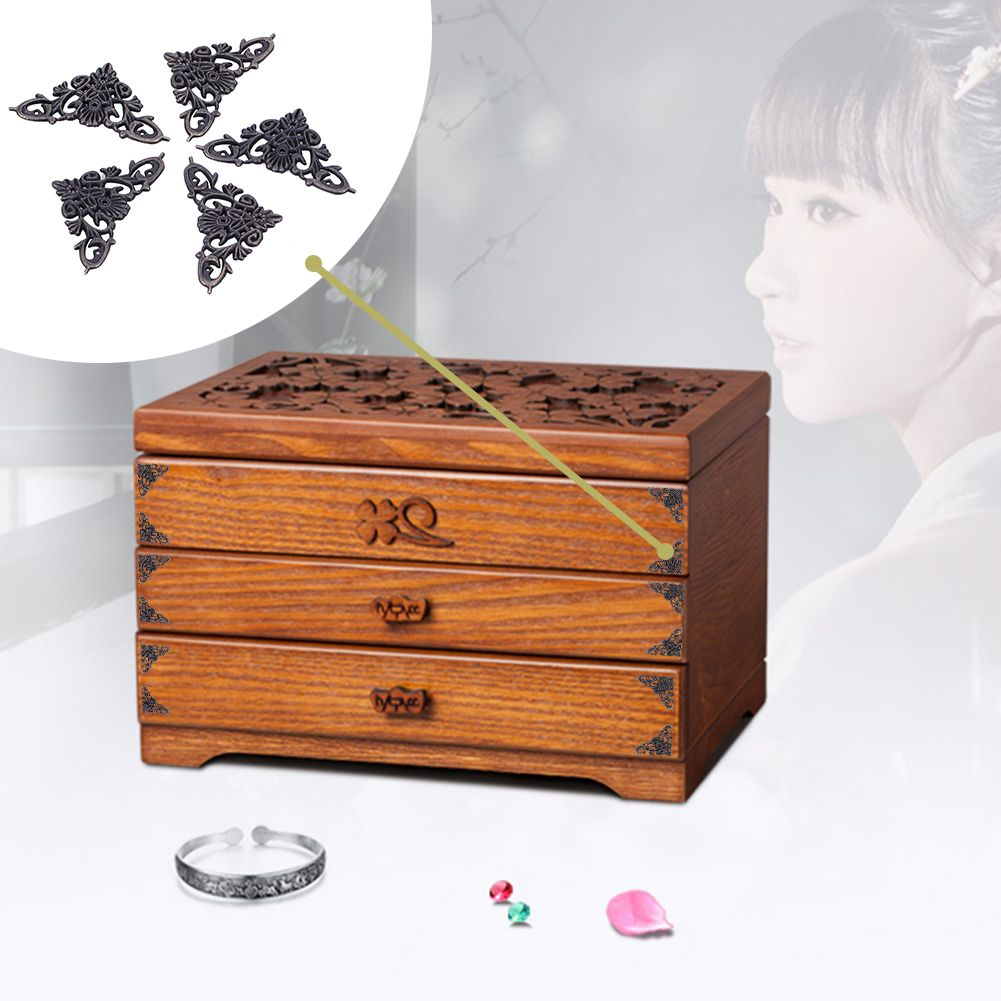 Charmant 12pcs Corner Brackets Antique Furniture Corner Brackets For Jewelry Chest  Wine Case Box Decorative Corner Protector
