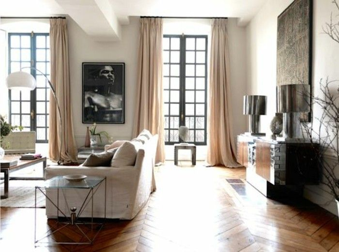 Idee per un soggiorno classico arredato con mobili in legno e ...