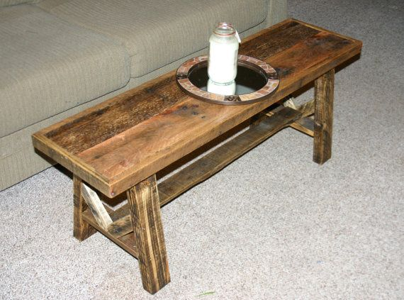 Reclaimed Wood Narrow Coffee Table Rustic By Greensouthliving