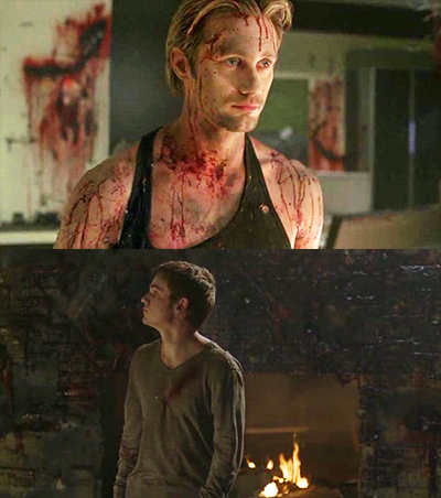 Eric and Godric, after Godric's lair had just been blown by a FOTS terrorist.