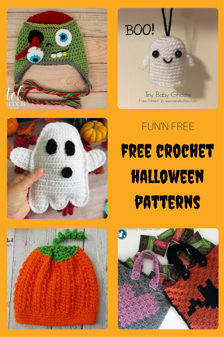 A fine collection of fun and free crochet patterns for Halloween ...