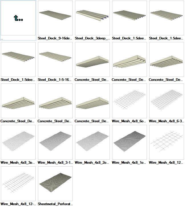 sketchup steel deck 3d models cad design cad sketchup steel deck 3d models cad design cad blocks drawings