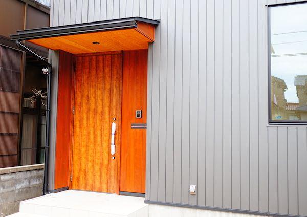 玄関ドア木製 玄関庇 玄関 ドア