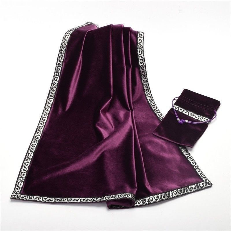 Velvet Altar Cloth And Tarot Card Bag Set Available In Black Purple Blue Mystic Book Of Shadows Witchcraft For Beginners Magick