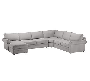 Pearce Upholstered Sectional Down Organic Cotton