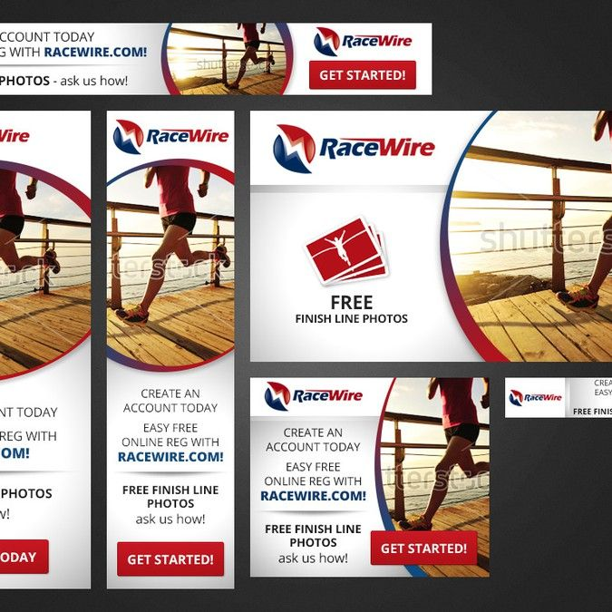 create an eye catching banner for retargeting ads for racewire