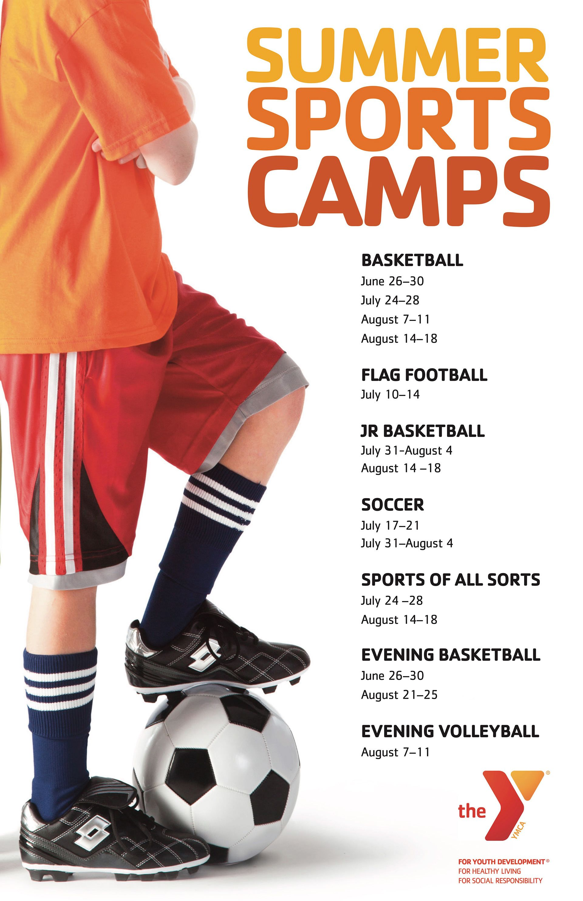 Ymca Of Columbia Willamette Poster Design Westside Youth Sports Department Summer Camps Youth Sports Summer Camp Sports Ymca