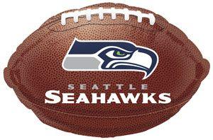 Seattle Seahawks Football Foil Balloons
