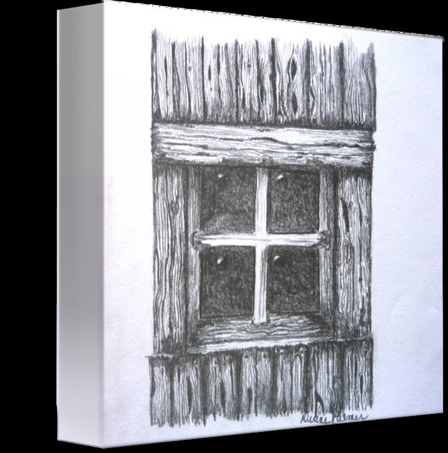 Old Barn Window Drawing By Diane Palmer Barn Drawing Drawings Wall Art Prints