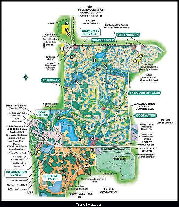 Lakewood Ranch Florida Map Map of Lakewood Ranch   Travelquaz.® | Lakewood ranch