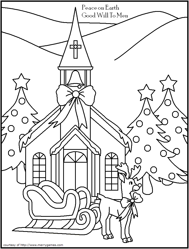 printable chuech coloring pages - photo#25