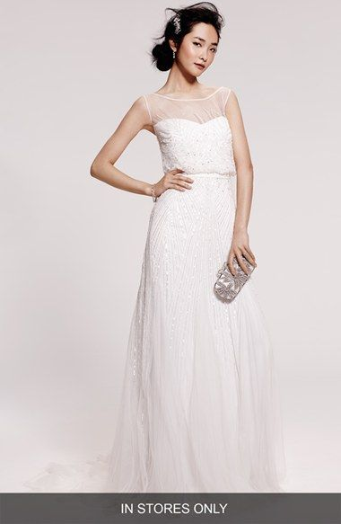 Rosa+Clara+\'Ugo\'+Beaded+Sheath+Gown+(In+Stores+Only)+available+at+# ...