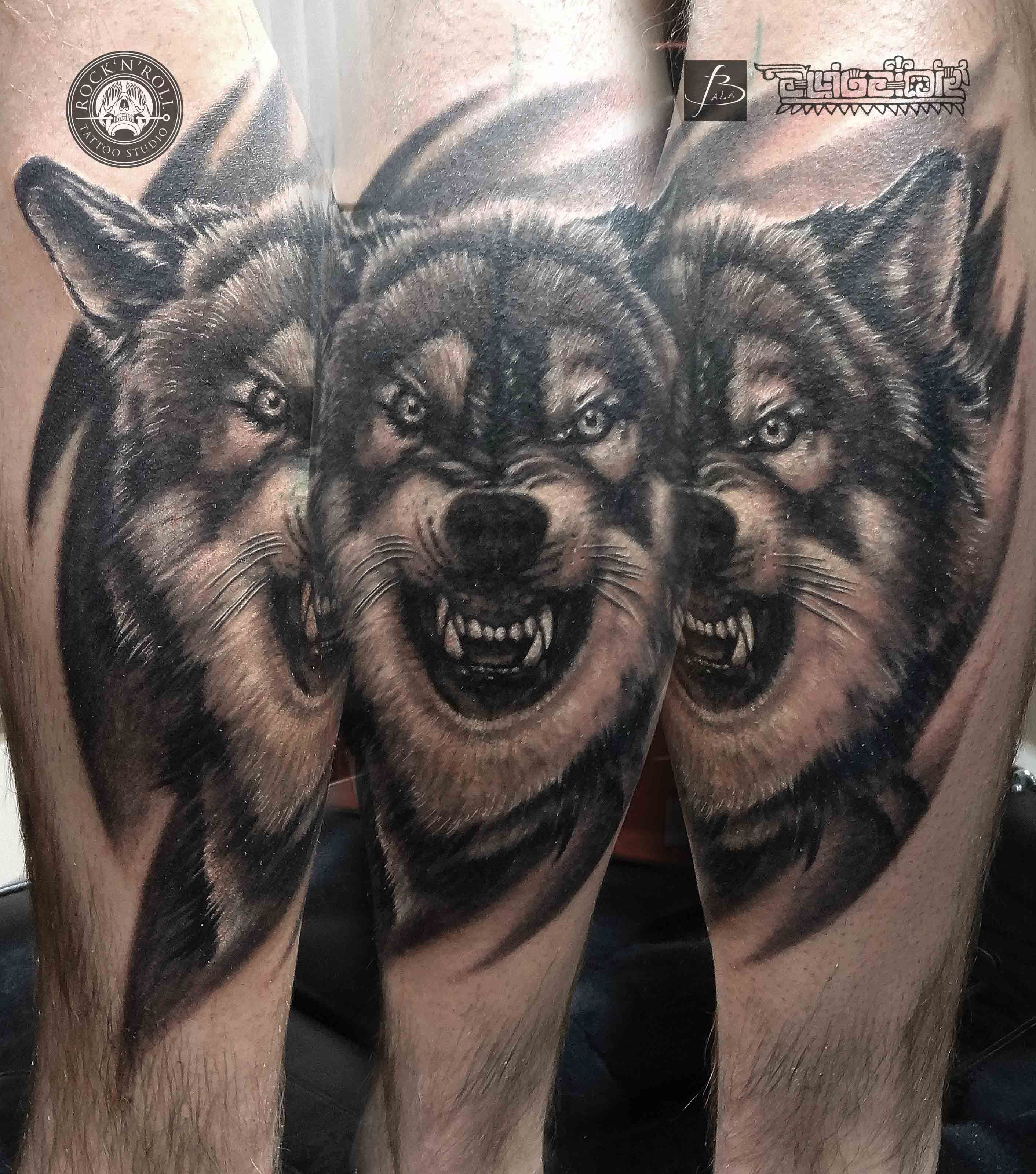 angry wolf angry wolf wolf tattoos