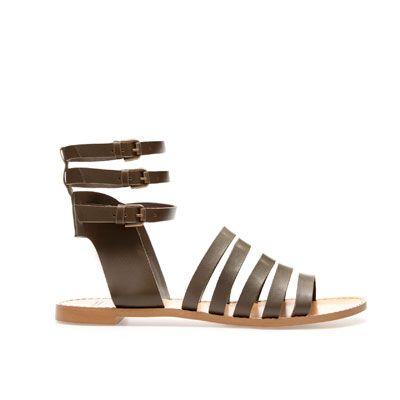 Sandalias Tiras Nm8wvn0o Romana Planas Pala Costa Zapatos Mujer Zara f6gvyb7Y