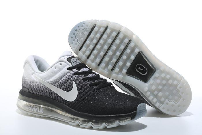 Hot Nike Air Max 2017 Black White Sneakers