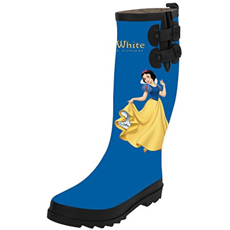 women s cartoon princess custom waterproof solid tall rain boot top