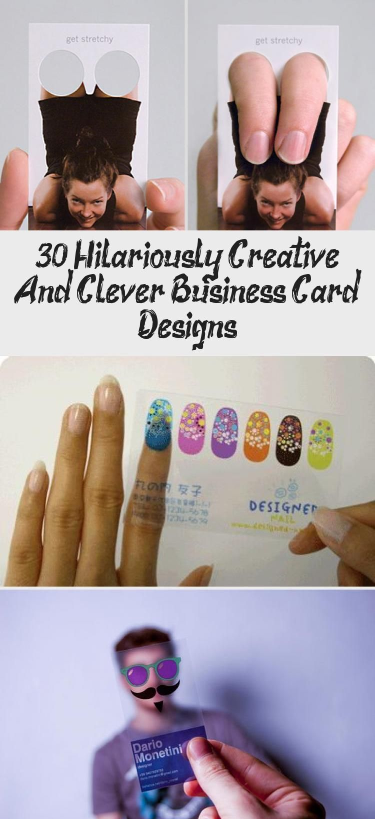 30 creative and clever business card designs that you can