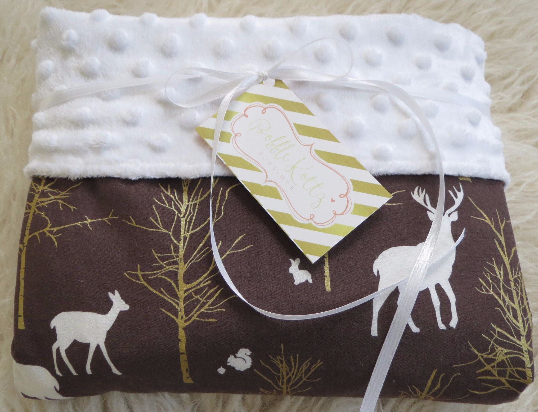 Baby Boy Is Sure To Snuggle With This Minky Baby Blanket For Years To Come