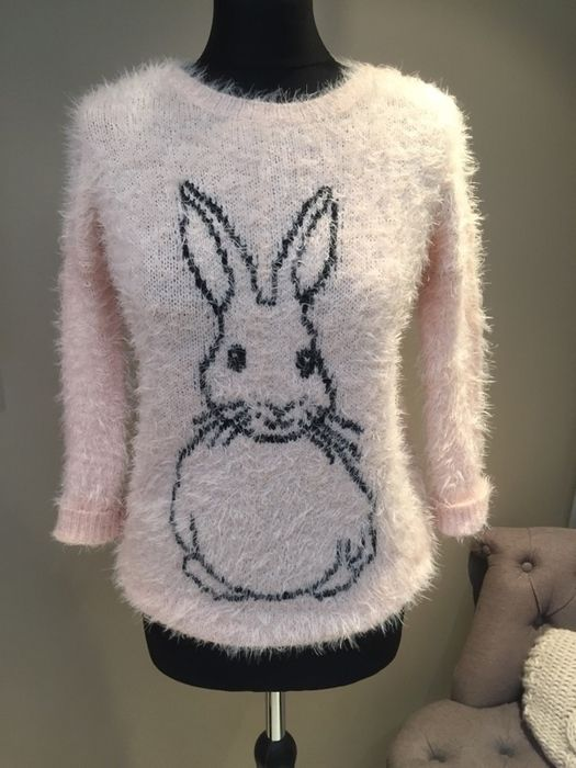 9873dedbedc3 Beautiful peach & black gorgeously fluffy jumper size 8-10 Bnwt Easter  super cute bunny rabbit - vinted.co.uk