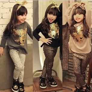 Wholesale cheap girls set online, brand - Find best 2017 hot girls sets children clothing leopard tee shirts leggings pants outfits kids clothes animals tights trousers t-shirts suit d6598 at discount prices from Chinese clothing sets supplier - star_baby on DHgate.com.
