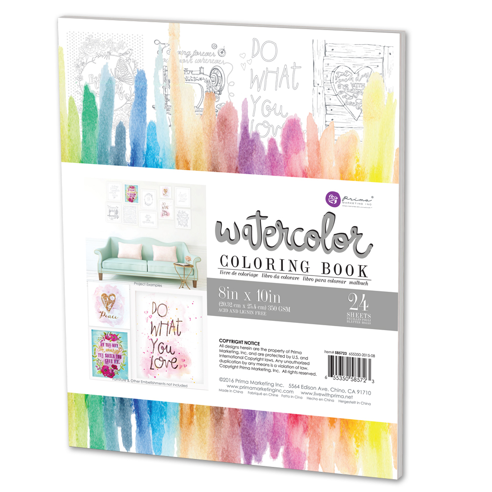 Prima Watercolor Coloring Book Watercolor Books Coloring Books Prima Watercolor