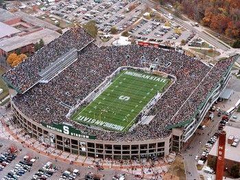 East Lansing Michigan Spartan Stadium Michigan State Spartans Michigan State Football Michigan State Spartans Michigan State University