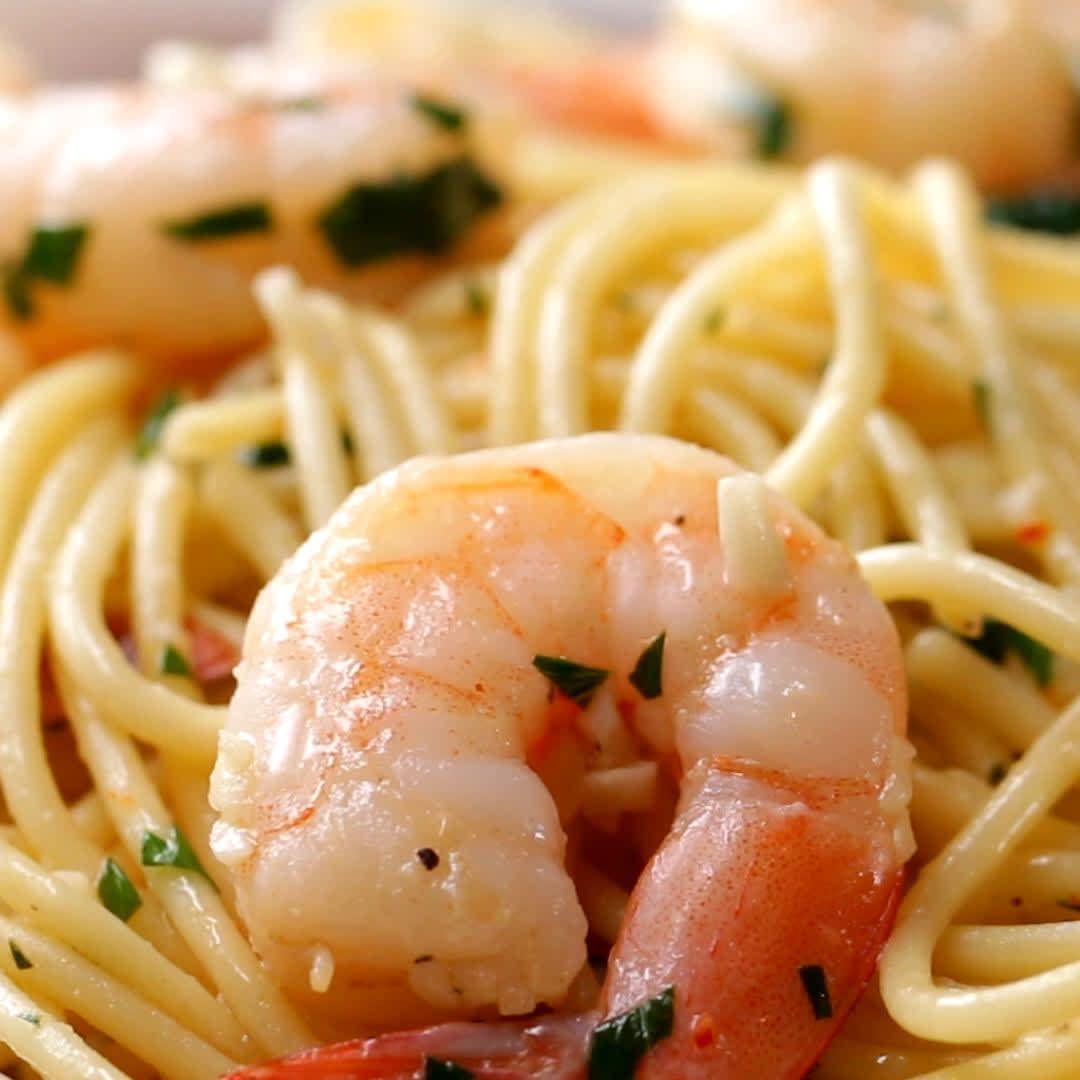 Garlic Shrimp Scampi #garlicshrimprecipes
