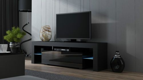 low priced 026cd 4bb98 TV-STAND-MILANO-160CM-TV-CABINET-TV-UNIT-BLACK-MATT-HIGH ...