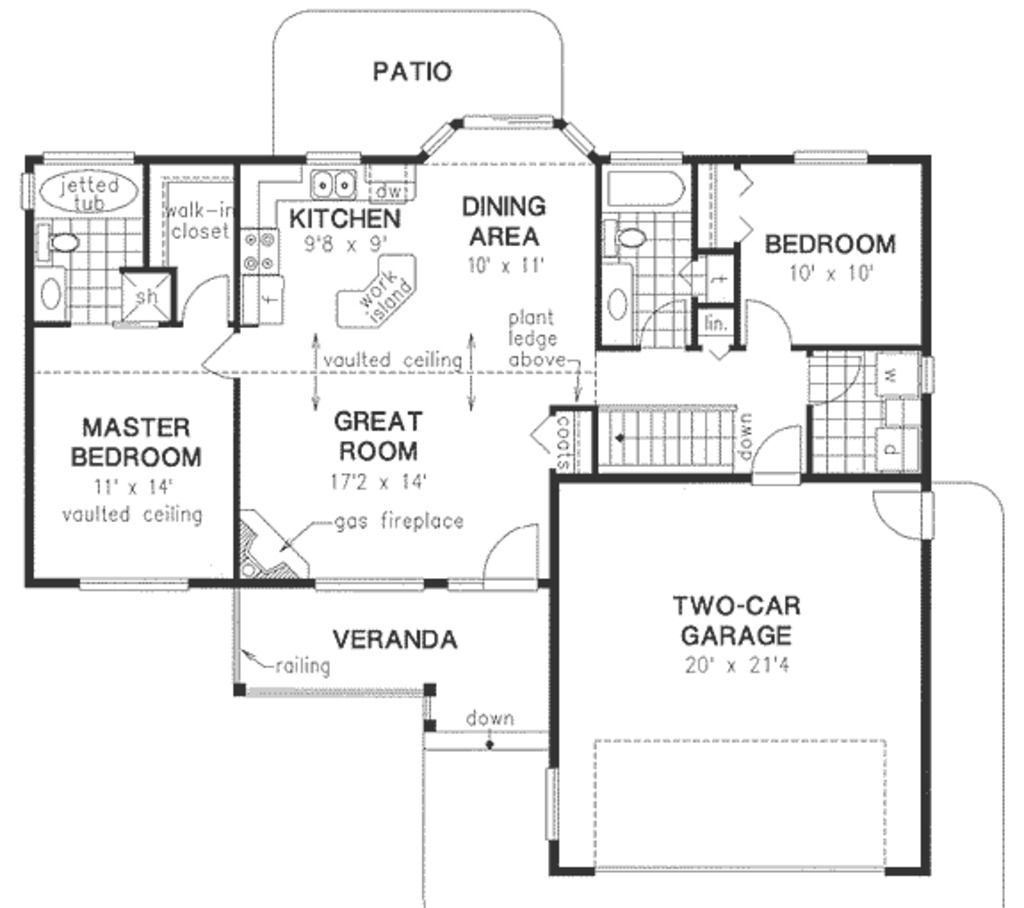 Small House Floor Plans Ranch: Flip There Basement Stair And The Door From The Garage To