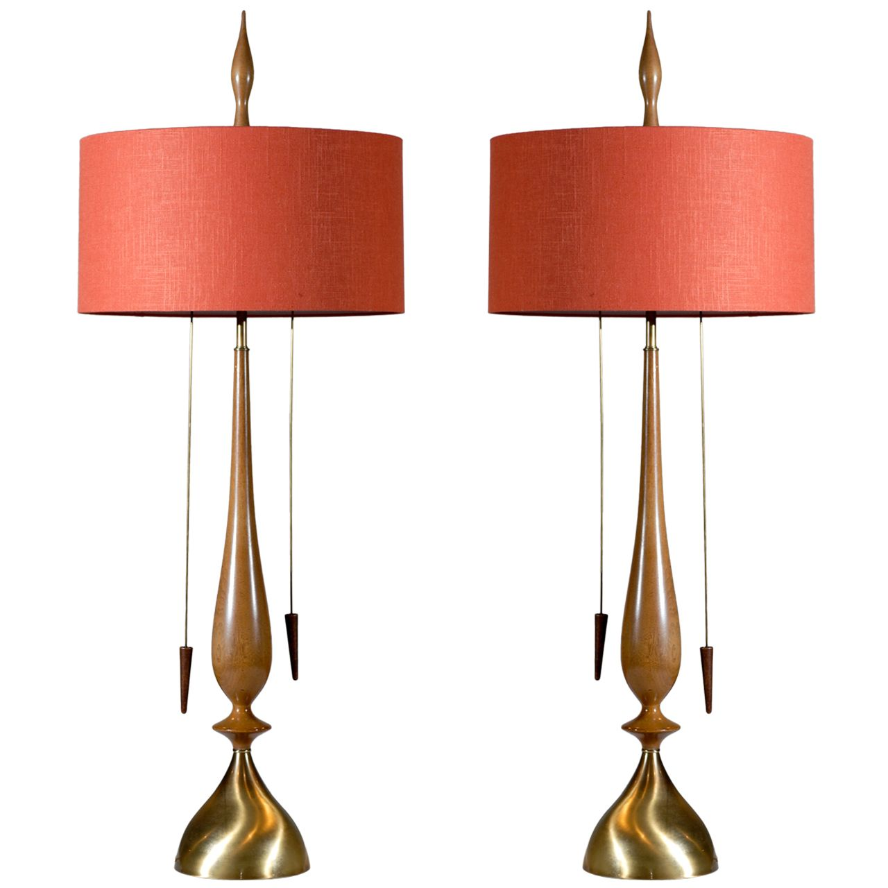 Monumental pair of modern lamps by frederick cooper modern table monumental pair of modern lamps by frederick cooper geotapseo Image collections