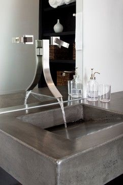 Decatur Loft Renovation - contemporary - bathroom - atlanta - Renewal Design-Build #sink #concrete #bath