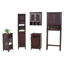 The unique and sophisticated Cane Bathroom Set by Elite Home Fashions features cabinets that will transform your bathroom into a ski lodge get away! The Cane Set is both bold and beautiful it can also store your many bath accessories without making your bathroom look cluttered.•Price includes Can...