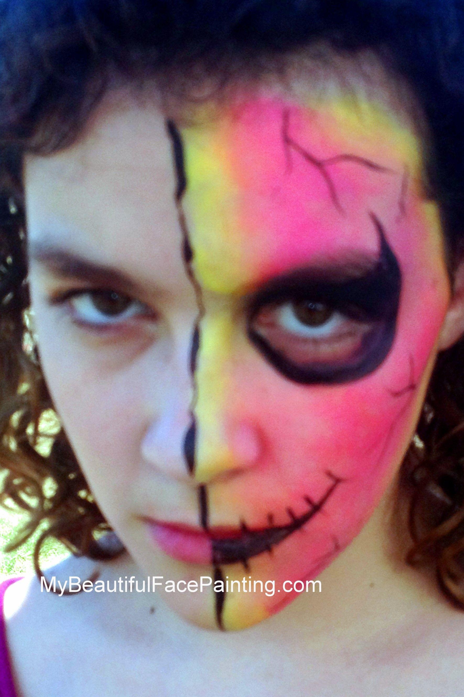zombie face paint zombies pinterest