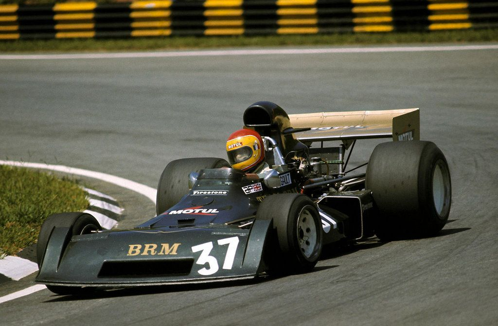 François Migault (FRA) (Team BRM), BRM P160E - BRM 3.0 V12 (finished 16th)  1974 Brazilian Grand Prix, Autódromo José Carlos Pace (Interlagos)