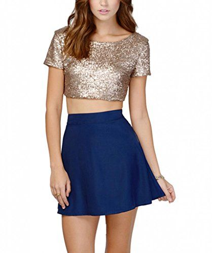 b660103b0 Discover ideas about Backless Shirt. Simple Cheap Chic, Shop Women's Sexy  Glitter Tank Top Sequined Gold Crop ...