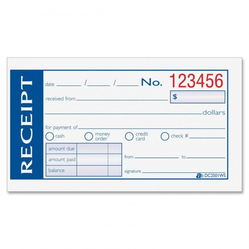 Explore Our Sample Of Handwritten Receipt Template Receipt Template Free Receipt Template Word Template