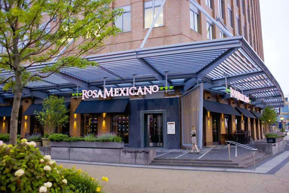 Dining at rosa mexicano mexican restaurant boston