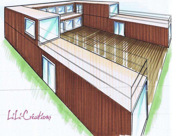 Maison Container En U Plans Maison Container Contener Maison Et