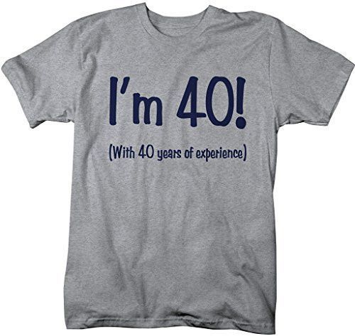 Shirts By Sarah Mens Funny 80th Birthday T Shirt 40 With Years Experience