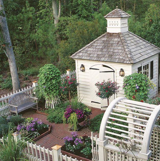 Merveilleux In The Garden: 25 Charming Garden Sheds