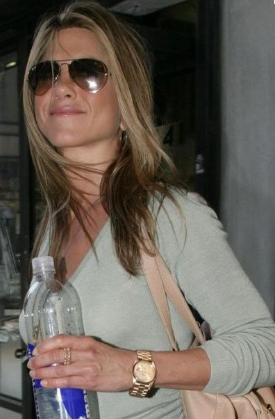 Ok mag celebrity women with fabulous watches jennifer aniston rolex watches rolex watches for Woman celebrity watches