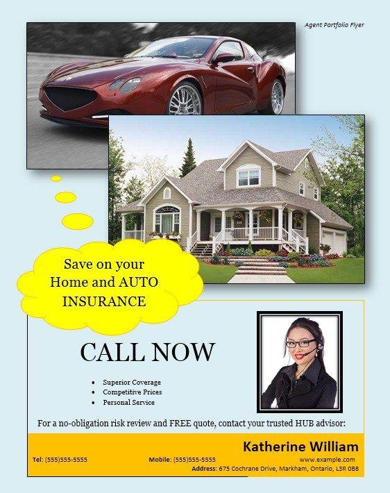 Agent Portfolio Flyer Home And Auto Insurance Car Insurance Portfolio