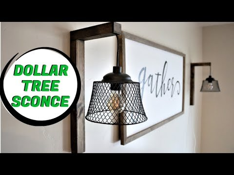 Dollar Tree DIY Farmhouse Sconce 2020 [Easy]