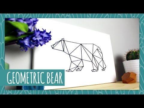 DIY Geometric Bear - HGTV Handmade