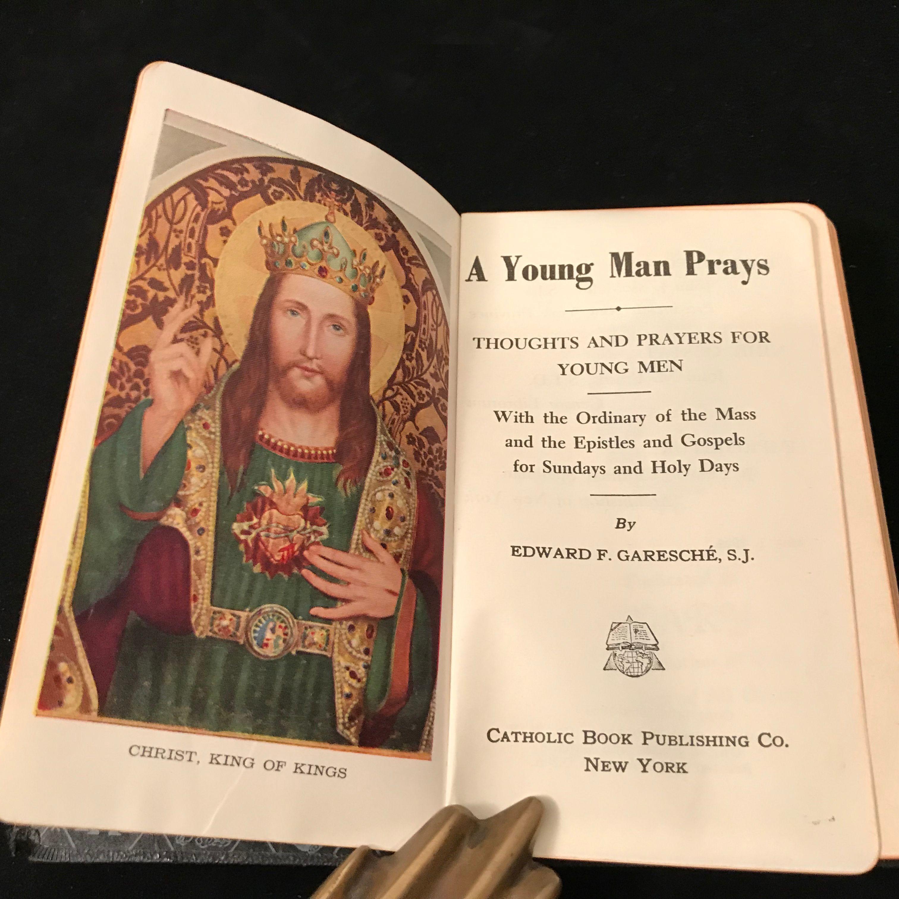 A Young Man Prays by Garesche Pocket Prayer Book in 2019
