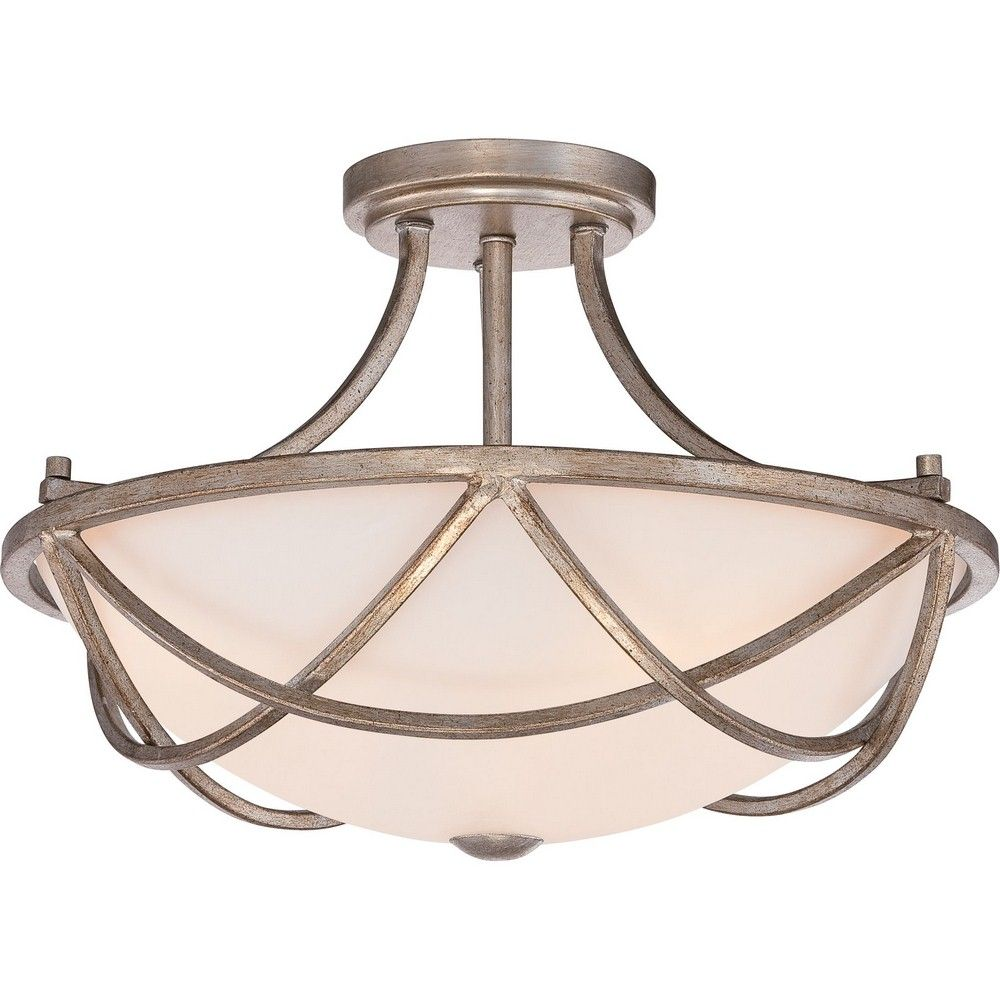 Milbank - Three Light Semi-Flush Mount