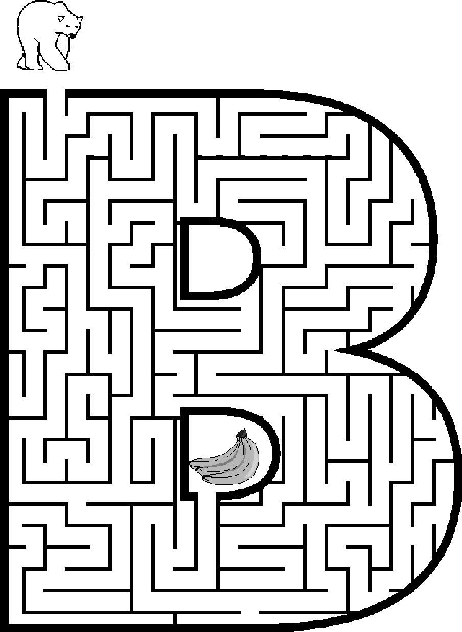 Capital letter t coloring pages maze coloring pages - Tons Of Free Printable Mazes For Kids All The Letters Upper And Lower Case Themes Animals