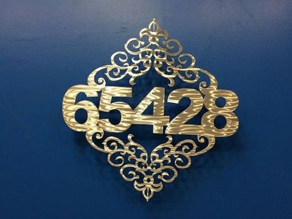 House Number Sign - Floral 1