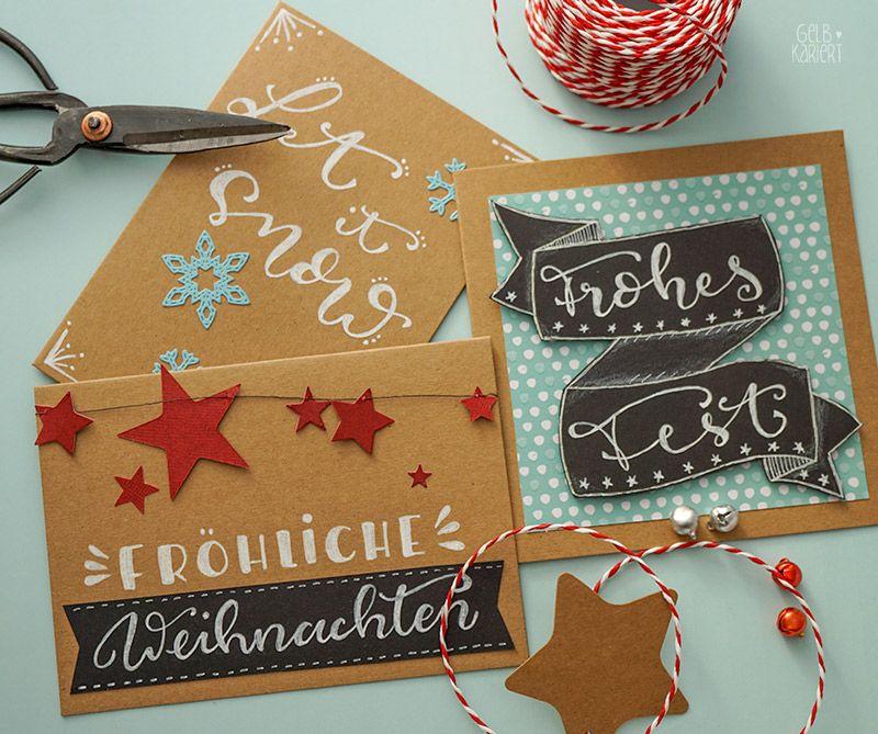 weihnachtskarten mit faux calligraphy gestalten. Black Bedroom Furniture Sets. Home Design Ideas