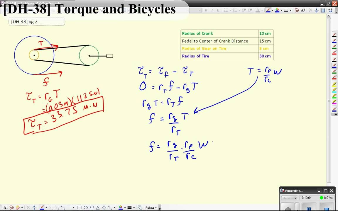 Dh 38 Torque And Bicycles Bicycle Simple Bicycle Physics